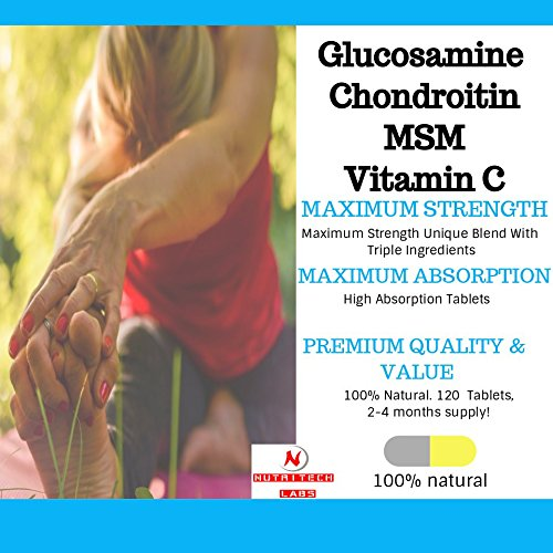 21st Century, Glucosamine Chondroitin Complex Plus MSM, Advanced Triple  Strength - 120 Tablets