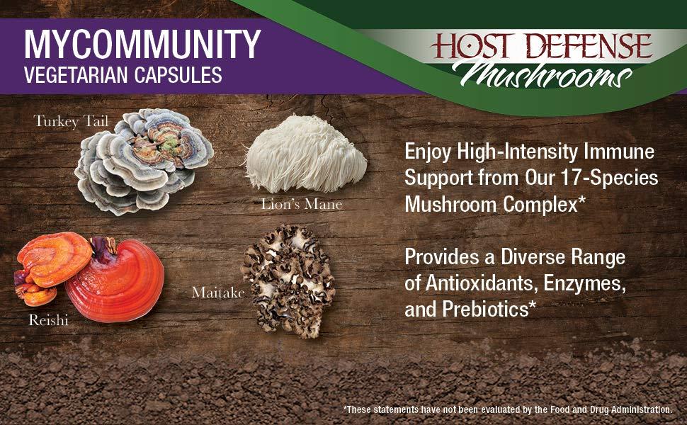 fungi perfecti host defense mycommunity  120 veggie caps