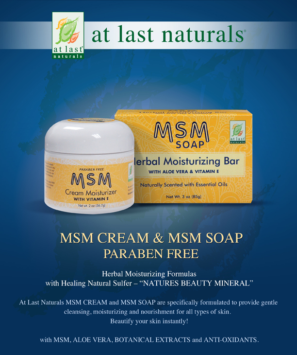 At Last Naturals, MSM Soap, Herbal Moisturizing Bar - 3 oz
